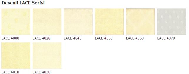 stor lace renk kodları