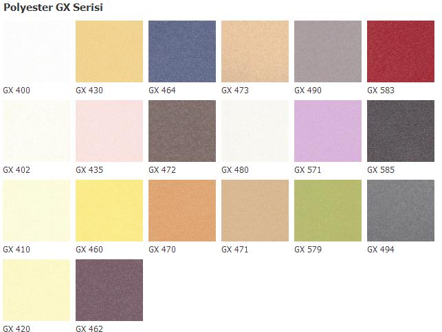polyester-gx-serisi-renk-kodlari