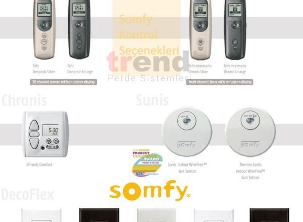 Somfy Kontrol Seçenekleri