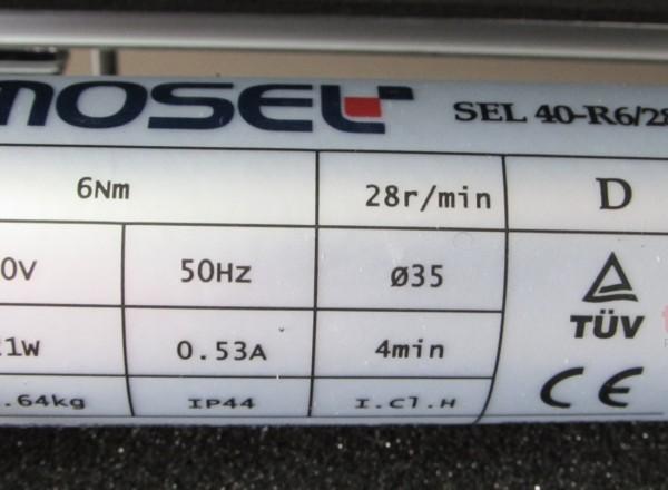 SEL 40-R6/28 Mosel Perde Motoru
