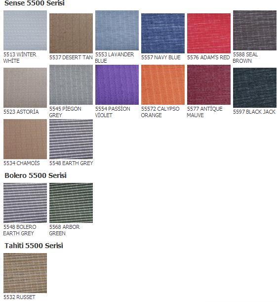 silüet perde renk kodları kartela