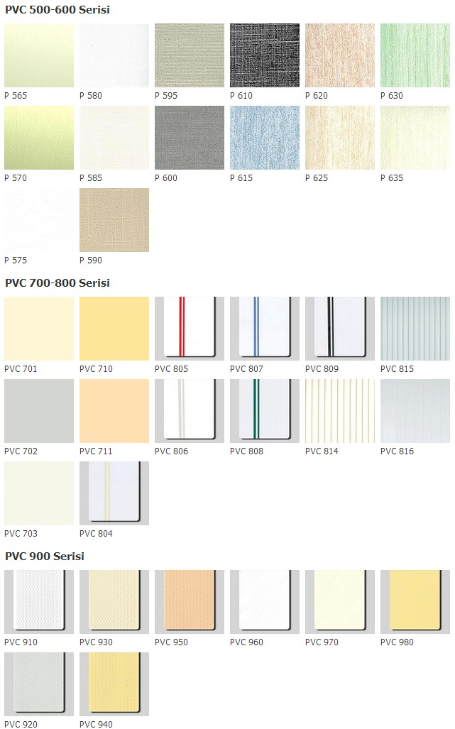 vertical PVC blinds colors